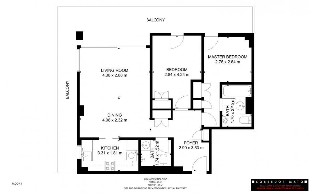 CM1592 CANADELL BLOC B 1º 2ª Apartament Costa Brava Calella de Palafrugell