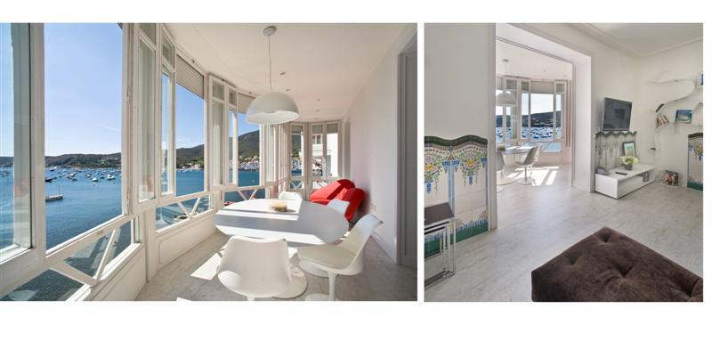 ES POAL 1ª LINEA Apartamento situado en un edificio modernista a primera línea de mar, delante de la Playa d'Es Poal. Apartment Es Poal Cadaqués