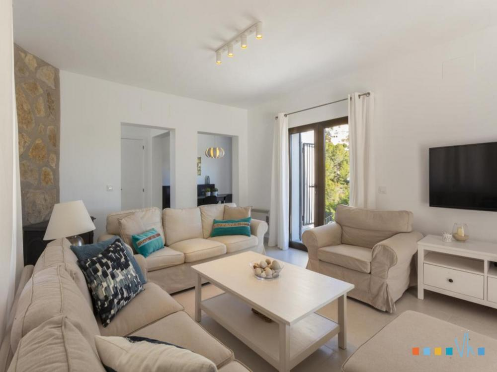 Villa ALOSA in Benissa with comfortable and modern living room including a flat screen TV